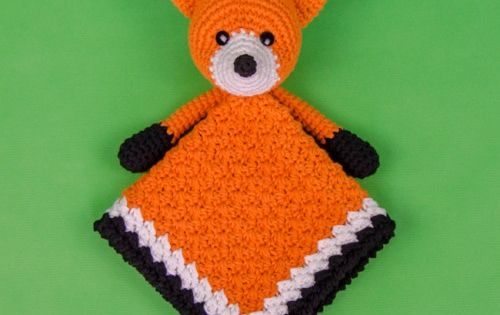 Flynn the Fox Lovey Crochet Pattern by One and Two Company