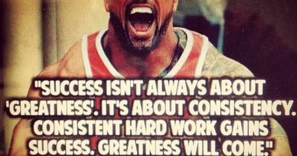 """Success isn't always about 'greatness'. It's about ..."