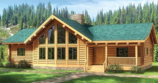Fall River Log Home Plan Loghome Com Loghome Com Log Homes Log Home Plan Log Home Plans