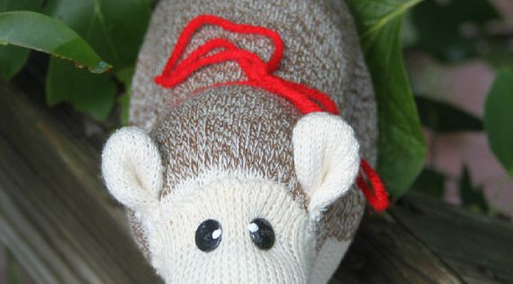 Handcrafted Sock Monkey Opossum! This little fella is ...