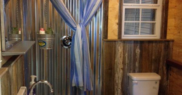 A Functional Barn Bathroom The Shower Basin Is A