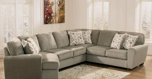 Ashley Furniture Patola Park Patina 4 Piece Small Sectional With Left Cuddler Furniture
