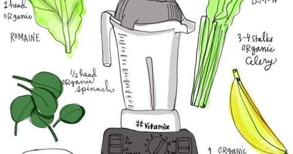 Kimberly Snyder's Glowing Green Smoothie Recipe - Illustrated by Elissa Hudson: 1