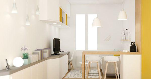 Petite surface am nagement studio d coration lyon cuisine pinterest studios - Amenagement petite surface ...
