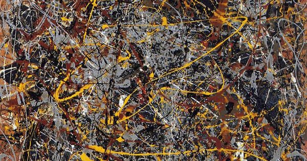 Jackson pollock had created his first drip painting in for Famous pollock paintings