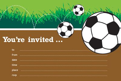 Cool Free Printable Soccer Game Baby Shower Invitation Idea