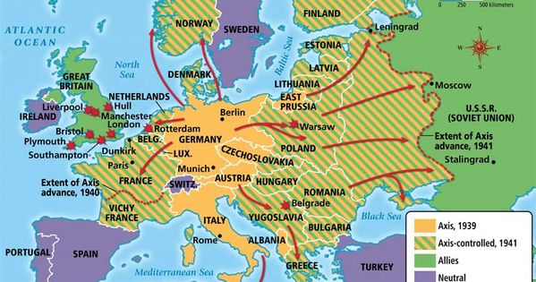 Map WWII specific | my holocaust/genocide unit | Pinterest | See ...