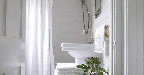 A sunny comfy dc home on design sponge greenery bath and bathroom inspiration - Design sponge bathrooms ...
