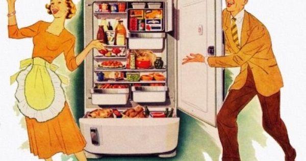 International Harvester Refrigerator Retro Housewife Vintage Housewife Retro Images