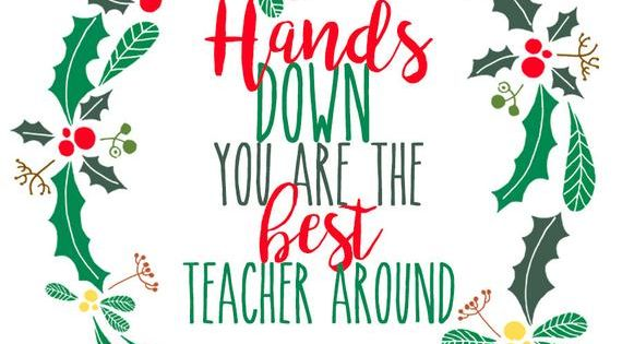 Teacher Christmas Gift Tag For Hand Soap Or Hand Sanitizer