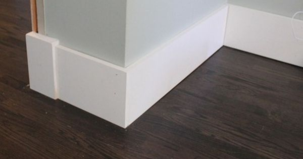 Flat plain baseboards 7 1 2 in plus board and batten for Contemporary trim profiles