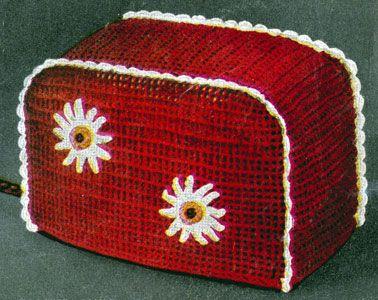 Vintage Crochet PATTERN Chicken Motif Toaster Cover