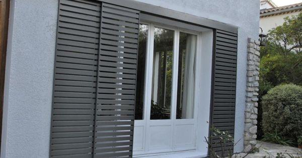 volets coulissants aluminium fen tres et verri res pinterest volet coulissant volets et. Black Bedroom Furniture Sets. Home Design Ideas