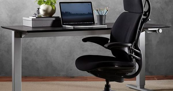 Humanscale Float Sit Stand Desk Silver Base Office Desk Pottery Barn In 2020 Chair Swivel Chair Desk Desk Chair