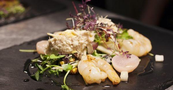 Dish Dining Room And Bar Leeds East Coast Crab With A Salad Of Saut Tiger Prawns Pickled White Radish Kohlrabi