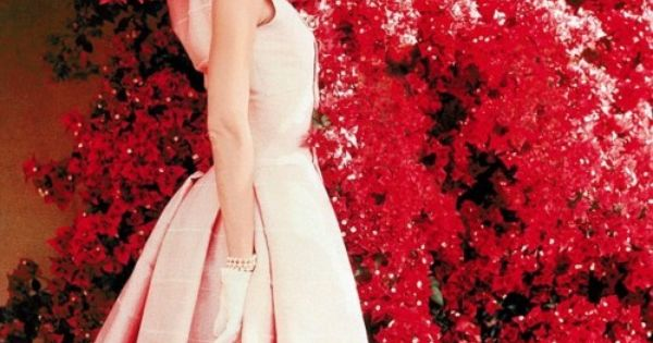 audrey hepburn pink dress & pink flower - Google Search