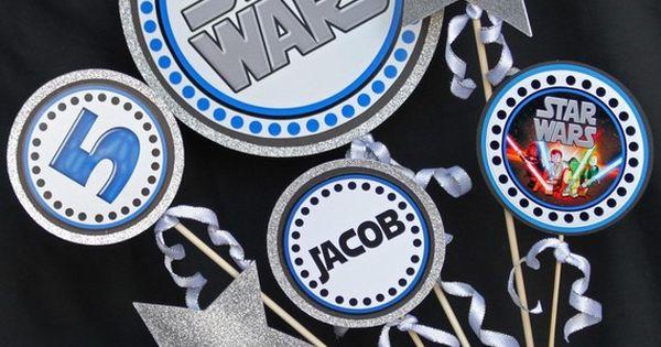 Star Wars Party Centerpiece - Birthday - DIY Printable Star Wars inspired
