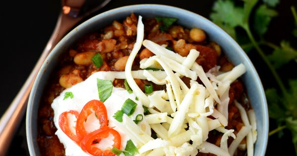 Beef and Brown Rice Chili