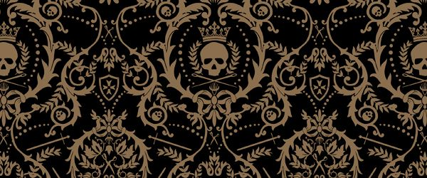 Crowned Skull Damask Wallpaper Perfect For My Daughters Bedroom Damask Wallpaper Gothic Wallpaper Damask Wallpaper Bedroom
