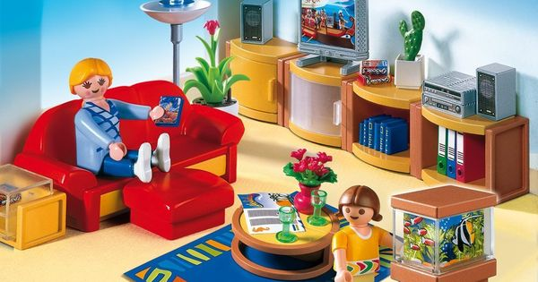 Playmobil 4282 living room atticus 39 s pins pinterest for Salle a manger playmobil 5332
