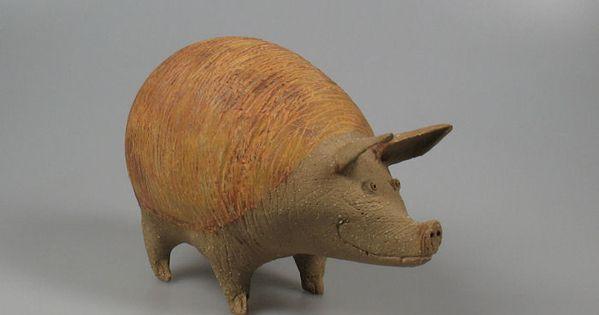 Adriana baarspul pig figurine the art of ceramics