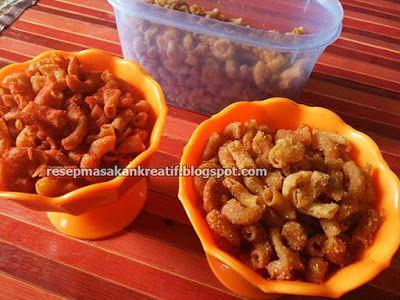 Resep Makaroni Goreng Pedas Garing Renyah Crispy Resep Masakan Resep Makanan Cemilan