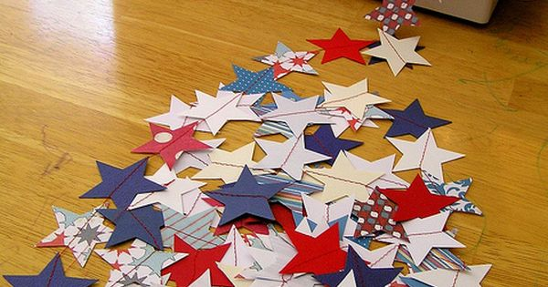 pretty star garlands for 4th of July party