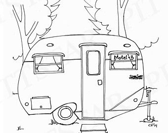 9a9bb9b0cb70c8bd39e27ddb34d0a9e8 » Realistic Camper Coloring Pages