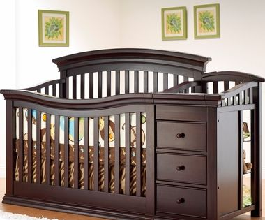 Sorelle Verona Crib Changer In Espresso Free Shipping 598 00 Cribs Baby Furniture Baby Bed