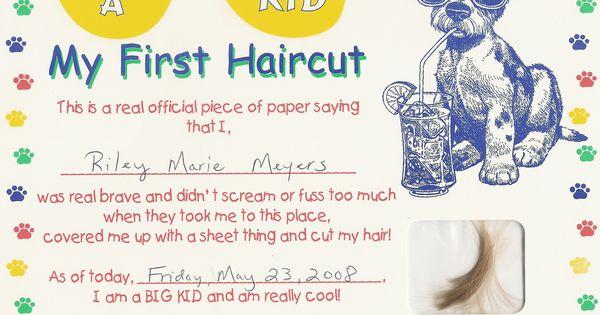 first haircut certificate free my cakepins com
