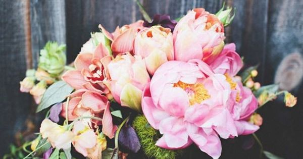 Coral Charm Peonies Roses Sweet Pea French Tulips