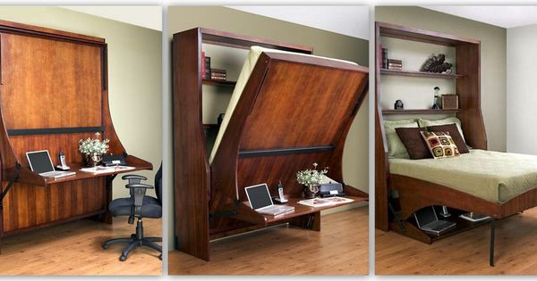 love this murphy bed idea i have a teeny tiny room that also needs to be a guest room and. Black Bedroom Furniture Sets. Home Design Ideas