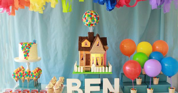 Karaspartyideas blog. Great party ideas! Especially love this 'UP' themed birthday party!