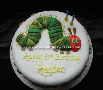 Cool Coolest Very Hungry Caterpillar Birthday Cake Hungry Caterpillar Funny Birthday Cards Online Alyptdamsfinfo