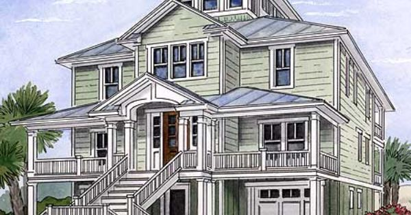Plan 15033nc Beach House Plan With Cupola Beach Houses