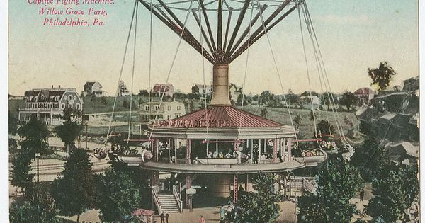 Captive Flying Machine Willow Grove Park Ca 1905 Montgomery County Photo Library And