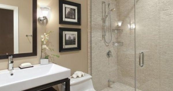 Master Bath - Contemporary Bathroom Design with Soft Cream Color Paint