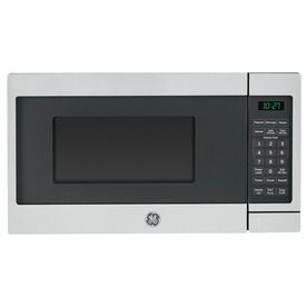 Ge 0 7 Cu Ft 700 Watt Countertop Microwave Stainless Steel Jes1072shss Countertop Microwave Oven Countertop Microwave Stainless Steel Countertops
