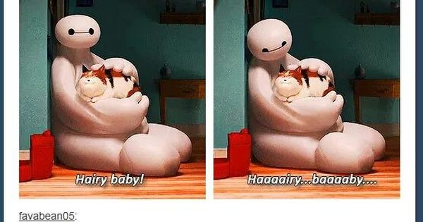 Big Hero 6 - Hairy Baby! [gifset] - cat people The first