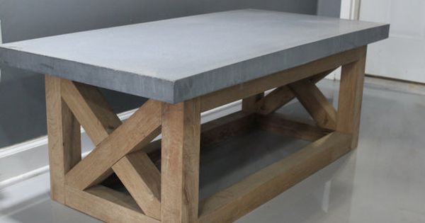 Coffee Table Concrete Table Reclaimed Urban Wood Rustic