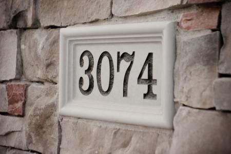 Natural Address Stone Mailbox Marker House Plaque Home Number