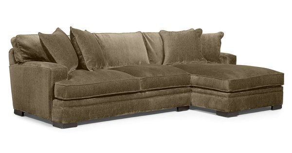 Teddy fabric 2 piece chaise sectional sofa created for for Teddy fabric 4 piece chaise sectional sofa