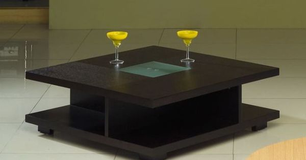 Square Black Wood Coffee Table With Glass Center Living Room Pinterest Wood Coffee Tables