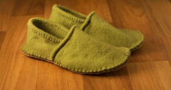 How To Make Cosy Slippers From An Old Sweater Project » The