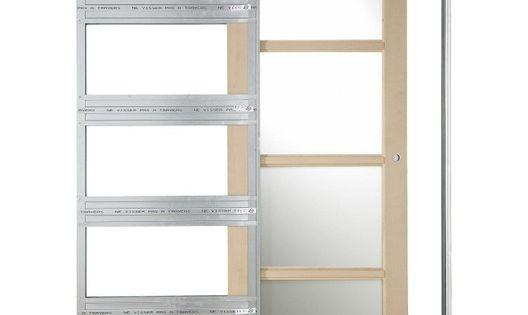 Systeme Galandage En Kit Pour Porte Coulissante Artens 3 L 93 Cm Armoire Exterieur Porte Coulissante Porte Galandage