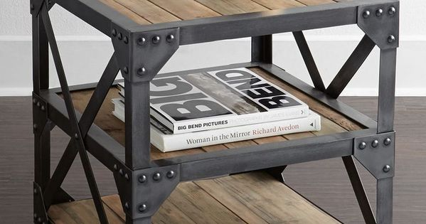 table d 39 appoint dans un style industriel d co diy pinterest style industriel industriel. Black Bedroom Furniture Sets. Home Design Ideas