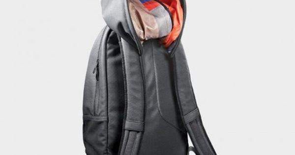 Cool idea. Hood on a backpack.