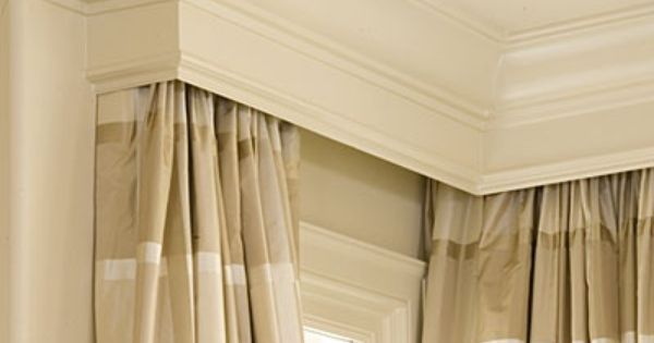 Maybe Use Basic Traverse Rod And Hide With Cornice Curtains