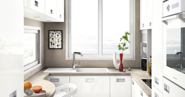 Cuisines petits espaces refrigerateur armoire mobalpa Cuisines petits espaces