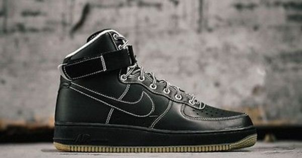 Mens Nike Air Force 1 One High Sneakers New, Black White